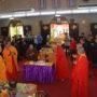 78th Anniversary at The Buddhist Union 19 Nov and 20 Nov 2016 -Ven Kuangjin, Ven Bao Shi and Ven Bao Tong cutting the Birthday Cake.