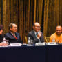 BuddhistUnion-WFB-International-Forum-2017-Forum speakers on Day 2 – from left, Dr Ang Bee Geok, Dato Ang Choon Hong, Dr Kweh Soon Han and Ven Chao Chu