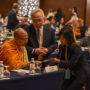 BuddhistUnion-WFB-International-Forum-2017-GS Tan (centre) & Poh Foong having a discussion with Ven Dr Phra Anil Sakya
