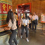 BuddhistUnion-WFB-International-Forum-2017-Our young volunteers turning the Dharma wheel during the visit to the Buddha Tooh Relic Temple