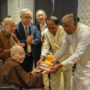 BuddhistUnion-WFB-International-Forum-2017-The Sri Lanka delegates presenting a Buddha souvenir to Ven Bao Shi. Looking on is Ven Bao Tong, GS Tan and Tan Eng Siong