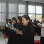 Thanksgiving_Day-Devotees reciting the sutra