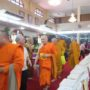 VenDhammasukha_Anniversary-Monks leaving for lunch at the left wing of the Main Shrine