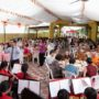80th_Anniversary -The invited guests were having vegetarian lunch while enjoying the music played by the Maha Bodhi School Symphony Band