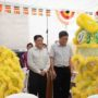 80th_Anniversary -Lion Dance greetings to Mr Yeo Guat Kwang and Mr Ong Seh Hong
