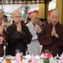 80th_Anniversary -Members of the Sangha singing the 'Song of the Triple Gem'