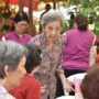 80th_Anniversary -The invited guest is an old Buddhist Union's member who is in her 80s