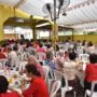 80th_Anniversary -The invited guests were having a sumptuous 8-course vegetarian lunch