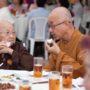 80th_Anniversary -The longevity bun taste delicious, said Ven Seck Kwang Phing to Ven Bao Shi