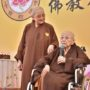 80th_Anniversary -Ven Bao Shi, President of The Buddhist Union giving a speech during the Anniversary Celebration