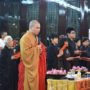 80th_Anniversary -Ven Kuan Jing leading the Dharma Service in the early morning